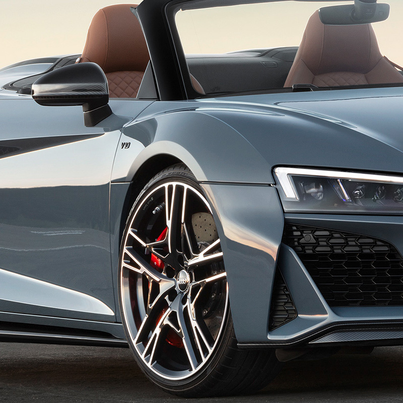 Front 3/4 of Audi R8 convertible
